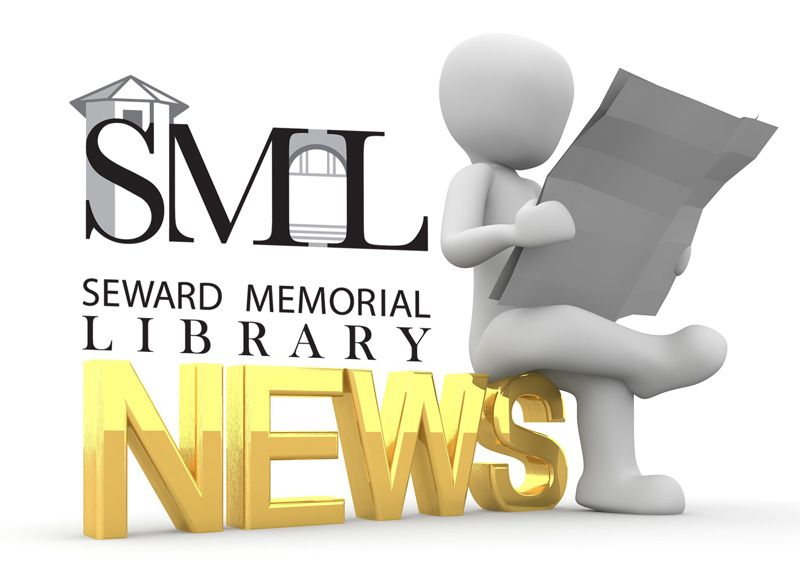 Seward Memorial Library News - person reading a newsletter